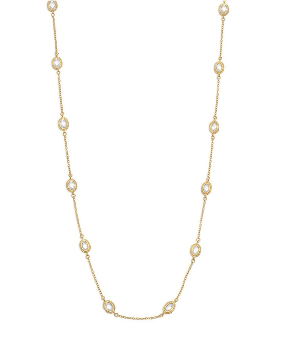 18k gold-plated & crystal necklace Sale - liv oliver