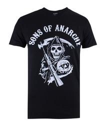 Men's Reaper black pure cotton T-shirt