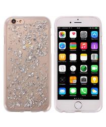 Silver-tone Glitter Rigid Fantasy Case for iPhone 6, 6S
