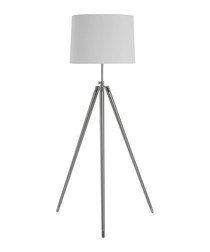 Unique cream iron tripod floor light