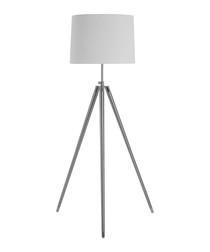Unique cream iron tripod floor light