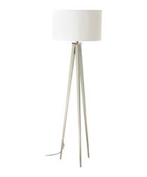 Livia white metal tripod floor lamp