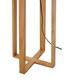 Lea brown rubberwood floor lamp Sale - Premier Sale