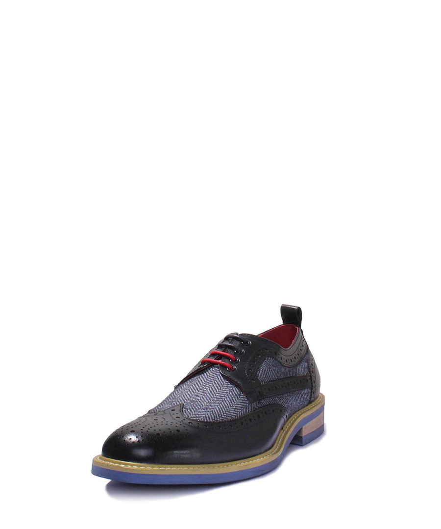 6c3dfefdd3a5 ... Aiden navy leather lace-up shoes Sale - Justin Reece