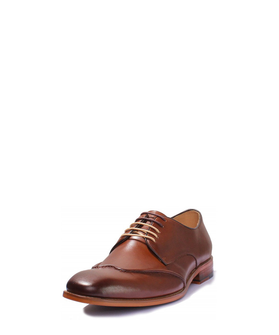 1dea9e983fb ... Kevin brown leather Derby shoes Sale - Justin Reece Sale