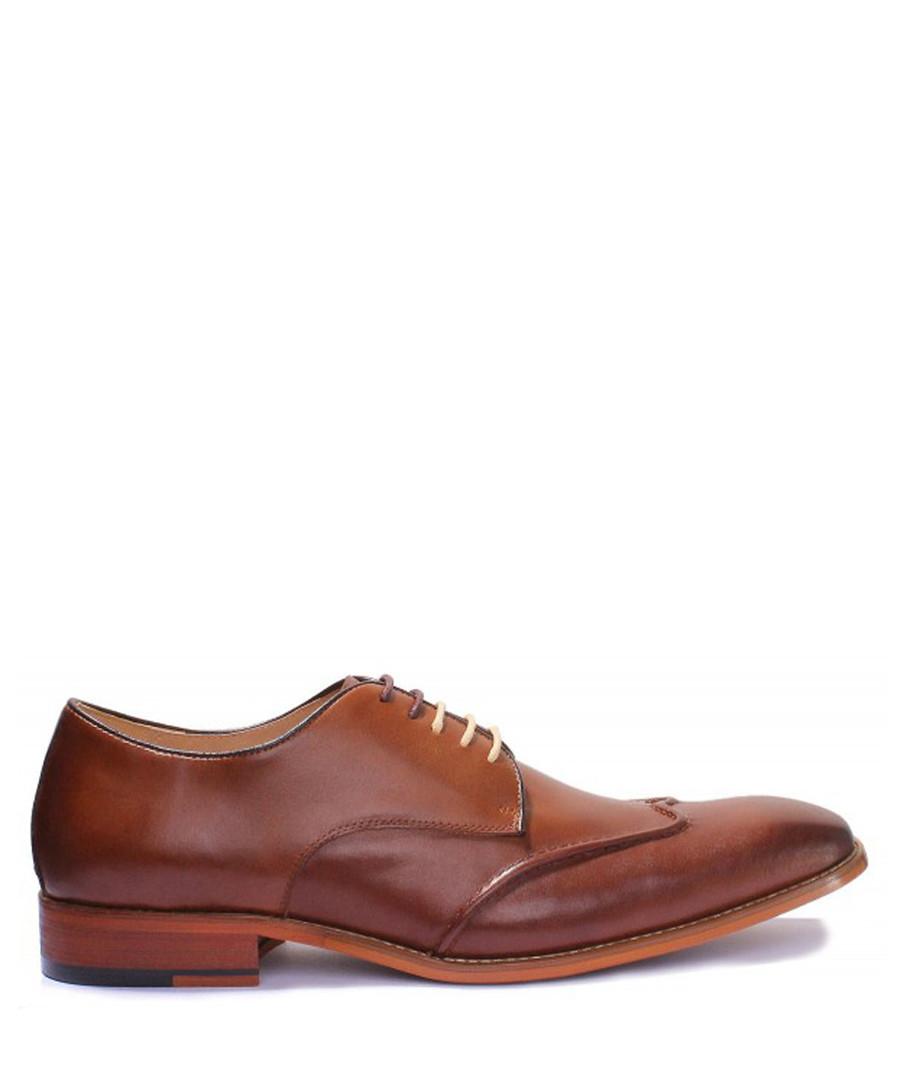 1719af62900 Kevin brown leather Derby shoes Sale - Justin Reece