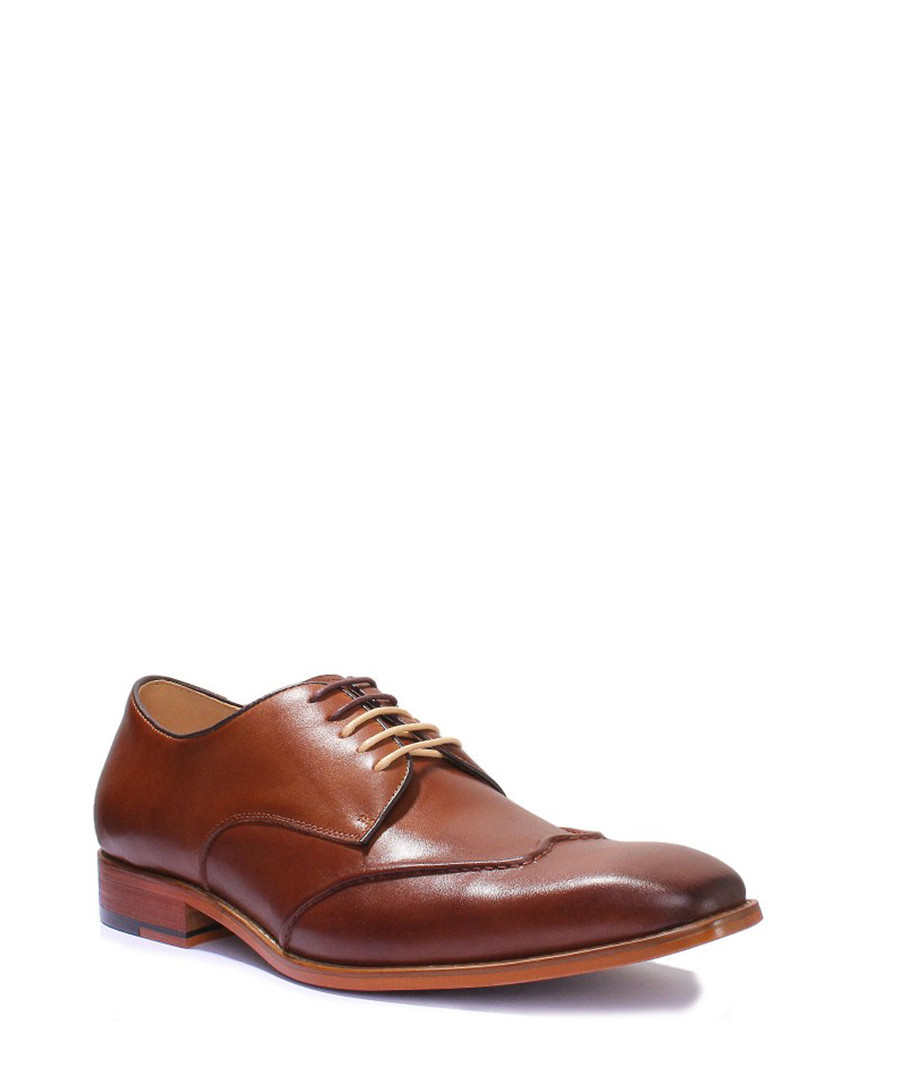 a33d5c5c4f2 ... Kevin brown leather Derby shoes Sale - Justin Reece Sale ...
