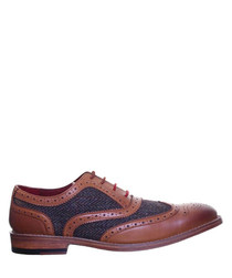 Truman light brown leather Derby shoes