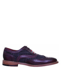 Truman wine leather Derby shoes
