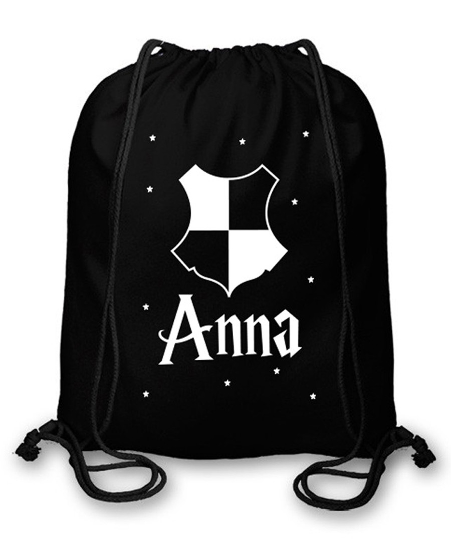 20dbfdc7c9 Black cotton shield personalised gym bag Sale - Personalised Gifts Market