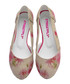 Pink floral print cut-out ballet flats Sale - Street Fly Sale