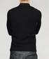 Black cotton blend polo T-shirt Sale - kuegou Sale