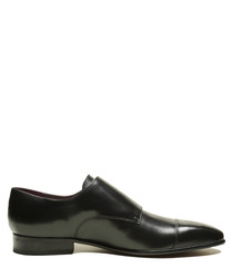 Walsh black leather shoes