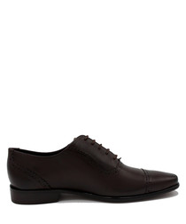 Byrne brown leather lace-up shoes
