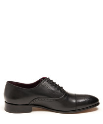 Callum black leather lace-up shoes