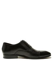 Darek black leather lace-up shoes