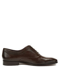 Blake dark brown leather lace-up shoes