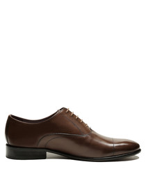 Bart chocolate brown leather shoes