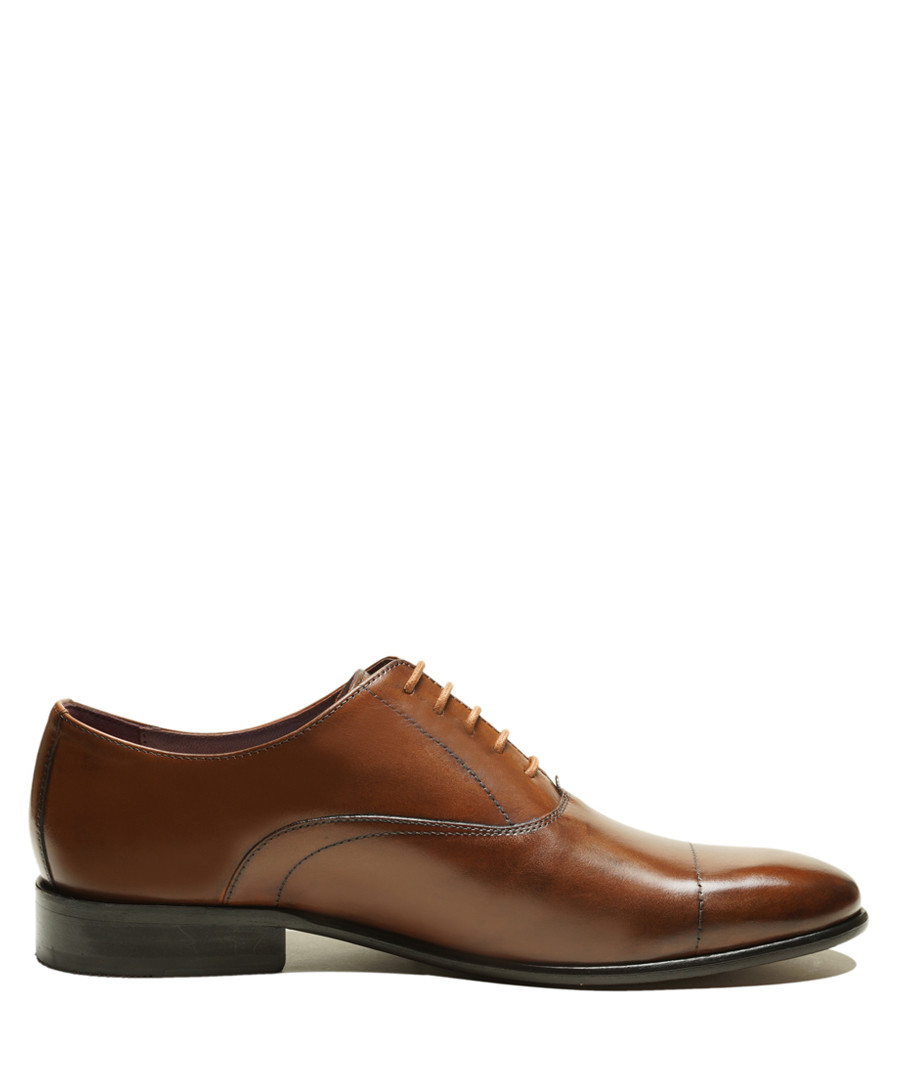 Bart tan brown leather lace-up shoes Sale - Thomas Blake