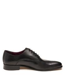 Alvin black leather lace-up shoes