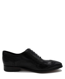 Wyatt navy blue leather lace-up shoes