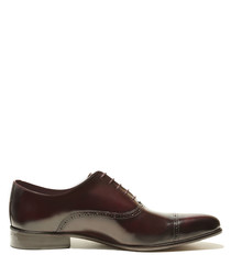 Stanley dark red patent leather shoes