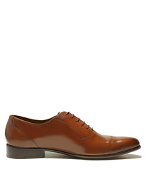 Murray tan brown patent leather shoes
