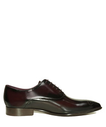 Travis dark red leather lace-up shoes