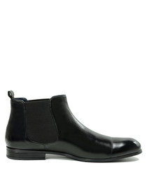 Tito black leather ankle boots