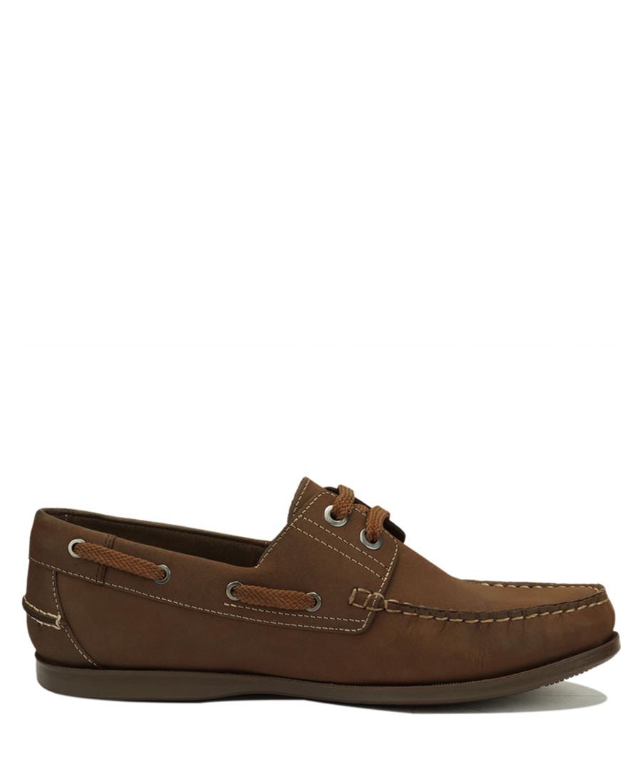 Romeo dark brown nubuck boat shoes Sale - Roberto Renzo