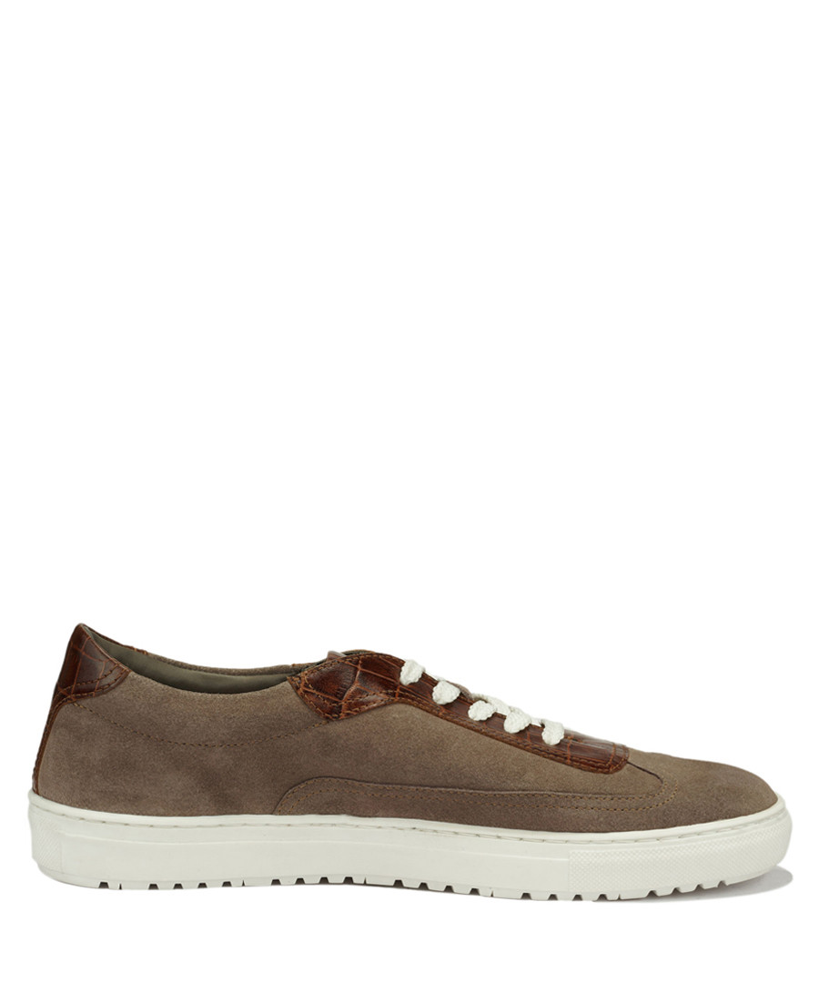 Fedele taupe suede lace-up sneakers Sale - Roberto Renzo