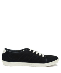 Enzo marine suede lace-up sneakers