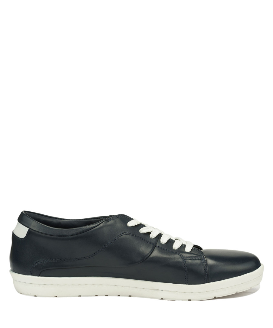 Zeno marine leather lac-up sneakers Sale - Roberto Renzo