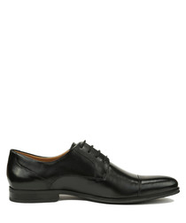 Renaldo black leather lace-up shoes