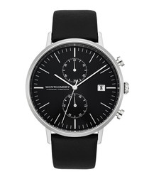 Bedfort black leather watch