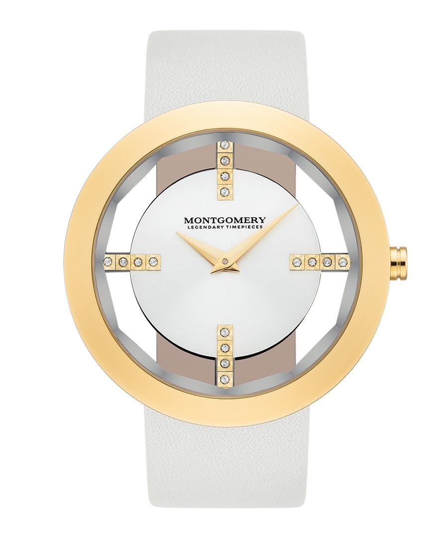 Bristol grey & gold-tone leather watch Sale - montgomery