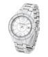 Bury silver-tone & white link watch Sale - montgomery Sale