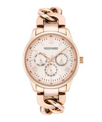 Morley rose gold-tone bracelet watch