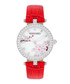 Barry red & silver-tone leather watch Sale - montgomery Sale