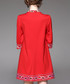 Red cotton blend embroidered dress Sale - Zeraco Sale