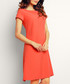 Coral short sleeve dress Sale - Infinite You Sale