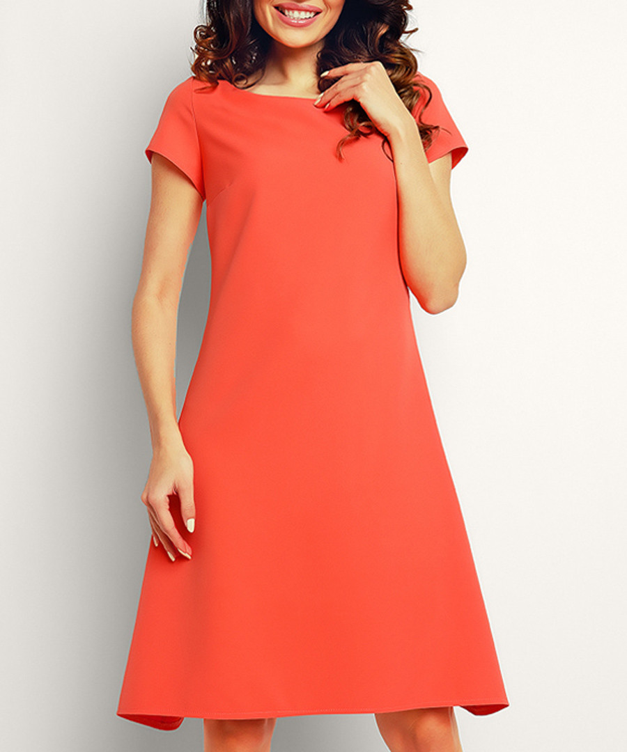 Coral short sleeve dress Sale - Infinite You