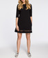 Black cotton blend mesh detail dress Sale - made of emotion Sale