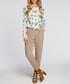 Ecru bird print pussybow blouse Sale - made of emotion Sale