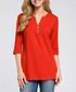 Red cotton blend zip-detail top Sale - made of emotion Sale
