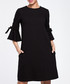 Black cotton blend flared sleeve dress Sale - made of emotion Sale