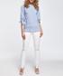 Blue frill hem blouse Sale - made of emotion Sale