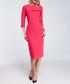 Fuchsia ruffle trim detail midi dress Sale - made of emotion Sale