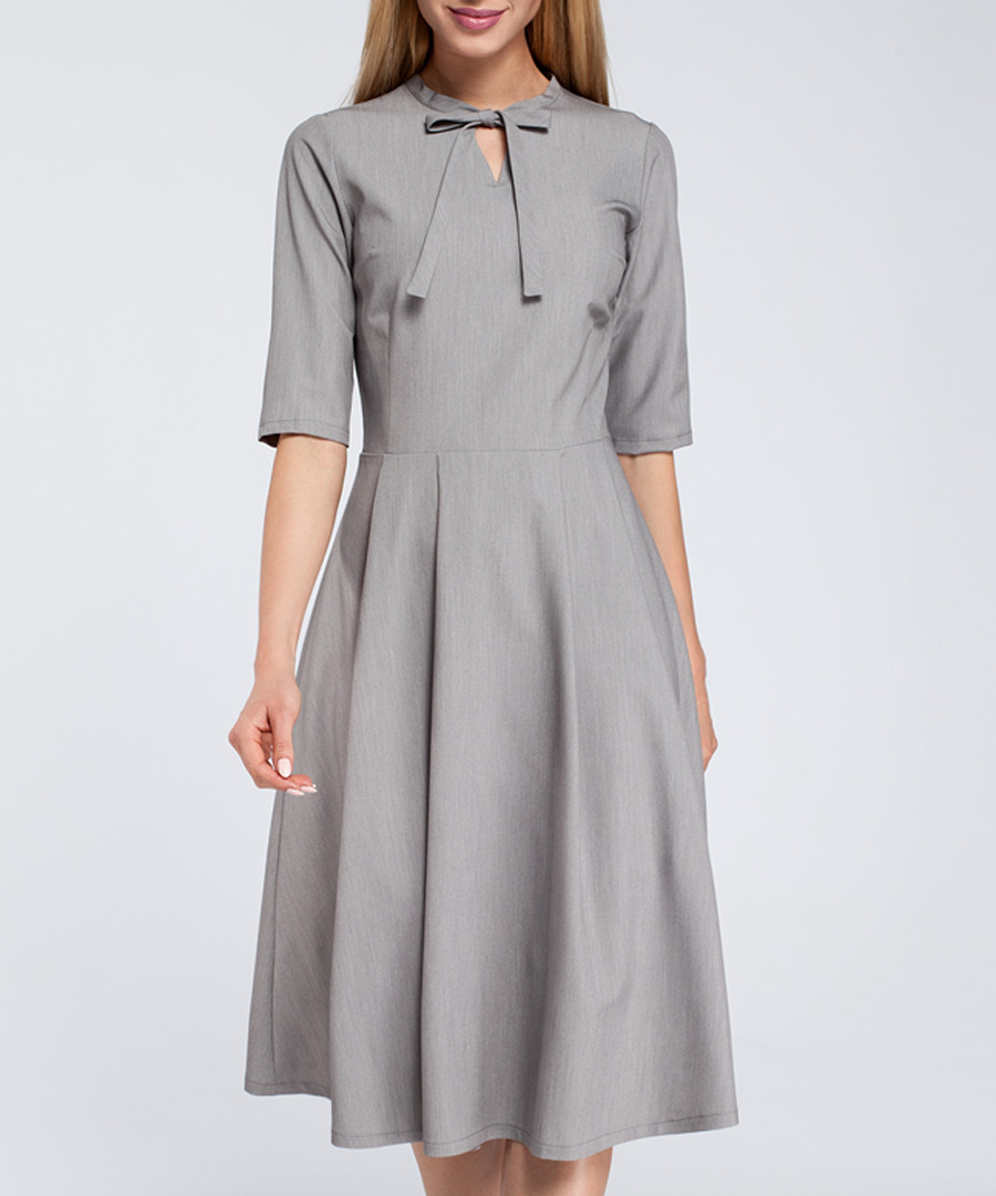 Grey bow detail dress Sale - made of emotion