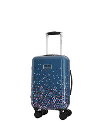 Grezia blue spinner suitcase 45cm